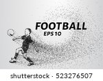 football of the particles. the... | Shutterstock .eps vector #523276507