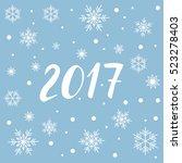 2017 new year lettering for... | Shutterstock .eps vector #523278403