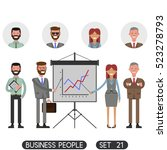 presentation. business people... | Shutterstock .eps vector #523278793