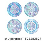 holographic set shapes... | Shutterstock .eps vector #523283827