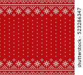 traditional fair isle style... | Shutterstock .eps vector #523286347