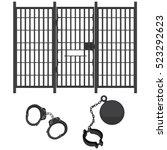 vector illustration prison bar... | Shutterstock .eps vector #523292623