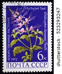 ussr   circa 1972. postage... | Shutterstock . vector #523293247