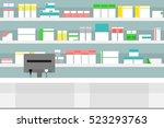 vector illustration pharmacy... | Shutterstock .eps vector #523293763