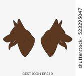 dog  guard  shepherd  vector...   Shutterstock .eps vector #523295047