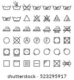 Garment Care Symbols Set. The...