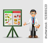 nutritionist illustration.... | Shutterstock .eps vector #523303123