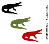 vector illustration green  red... | Shutterstock .eps vector #523307257