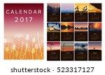 2017 calendar  vector... | Shutterstock .eps vector #523317127