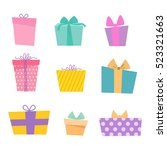 gift box vector icon isolated... | Shutterstock .eps vector #523321663