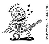 Angel With Guitar Sing Serenad...