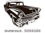 retro muscle car vector... | Shutterstock .eps vector #523331203
