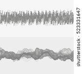 segmented vector audio waves.... | Shutterstock .eps vector #523331647