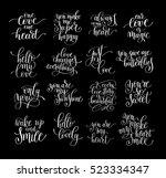 set of handwritten lettering... | Shutterstock .eps vector #523334347