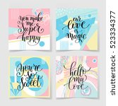 set of lettering quote about... | Shutterstock .eps vector #523334377