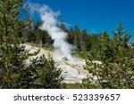 norris geyser basin ... | Shutterstock . vector #523339657