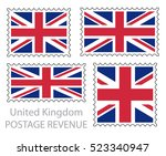 great britain flag postage... | Shutterstock .eps vector #523340947