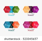 set of abstract geometric... | Shutterstock .eps vector #523345657