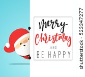 santa claus cartoon character... | Shutterstock .eps vector #523347277