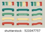 vintage ribbon colored vector... | Shutterstock .eps vector #523347757