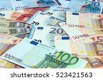 pile of paper euro banknotes as ...