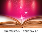 open book with pink abstract... | Shutterstock . vector #523426717