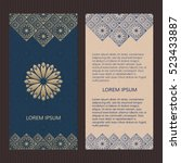 set of two islamic luxury cards....   Shutterstock .eps vector #523433887