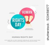 human rights day poster or... | Shutterstock .eps vector #523458577