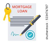 mortgage loan concept | Shutterstock .eps vector #523476787