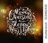 """lettering """"merry christmas and... 