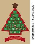 christmas advent calendar | Shutterstock .eps vector #523486027
