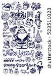 new year season doodle set... | Shutterstock .eps vector #523511023