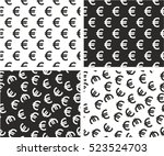 euro currency aligned   random... | Shutterstock .eps vector #523524703