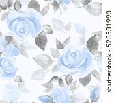 Background With Roses. Seamles...