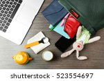 maternity concept. female... | Shutterstock . vector #523554697