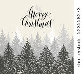 Hand Drawn Christmas Card. New...