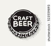 craft beer bottle cap with... | Shutterstock .eps vector #523559893