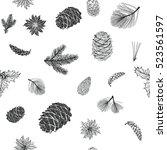 winter pattern christmas...   Shutterstock .eps vector #523561597