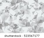 grey geometric modern low poly...   Shutterstock . vector #523567177