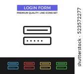 vector login form icon....