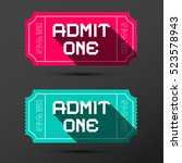 admit one ticket. vector retro... | Shutterstock .eps vector #523578943