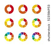 vector circle arrows... | Shutterstock .eps vector #523586953