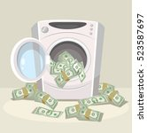 laundering of money in washer....