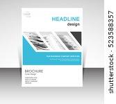 business annual report brochure ... | Shutterstock .eps vector #523588357