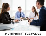 business people having a... | Shutterstock . vector #523592923