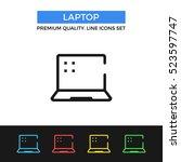 vector laptop icon. portable...