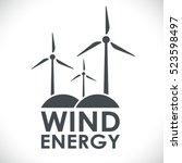 wind energy generation logo... | Shutterstock .eps vector #523598497