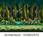 seamless cartoon jungle...