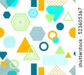 abstract seamless pattern from... | Shutterstock .eps vector #523605367