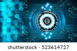 future technology  blue eye...   Shutterstock .eps vector #523614727